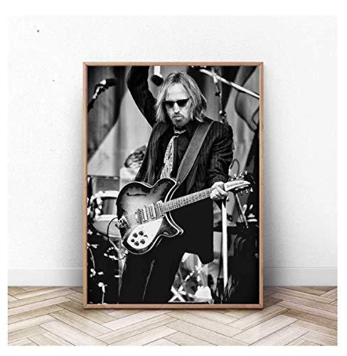 JCYMC Leinwandbild Tom Petty Poster Rocksänger Antike Bar Pub Kaffee Wandkunst Schlafzimmer Wohnzimmer Wohnkultur Ky939Fa 40X60Cm Rahmenlos