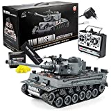 Goods & Gadgets Remote controlled RC German Tiger I 2.4GHz R/C tank 1:16 scale model with shot function, sound...