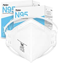 NIOSH Approved N95 Mask Particulate Respirator - Pack of 20 Face Masks - Universal Fit