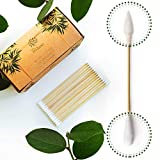 Premium 6 inch Long Bamboo Cotton Swabs   Compostable Dog Ear Sticks   Buds for Gun Cleaning Kit   Zero Waste Disposable Products   Plastic Free Wooden Makeup Swab   Eco Friendly Biodegradable Cleaner