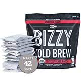 Bizzy Organic Cold Brew Coffee | Smooth & Sweet Blend | Coarse Ground Coffee | Brew Bags | 12 Count...