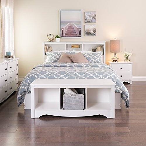 Prepac Monterey 3-Cubbie Bench, White