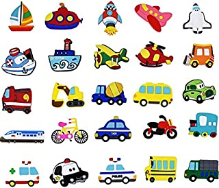 LXT&YY 20 pcs Cartoon Cars 3D Fridge Magnets for Kids Magnets for Refrigerators for Home Decoration Accessories Kids Toys Boys Gifts