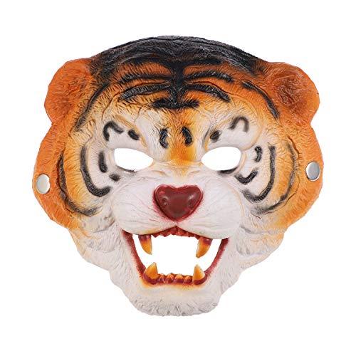 Mscara de tigre para disfraz, accesorio de disfraz para Halloween, disfraz, cosplay, actuacin, carnaval