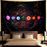 Ameyahud Chakra Tapestry Yoga Meditation Wall Tapestry Space Galaxy Tapestry Psychedelic Mandala Tapestry Indian Hippie Tapestry Wall Hanging for Studio Room W92.5' × W70.8'