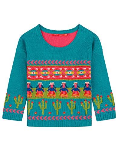 Oilily Türkisfarbener Pullover für Mädchen YF18GKN203
