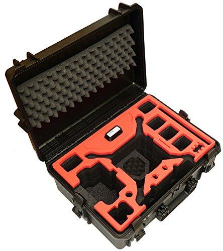 Professionele koffer voor DJI Phantom 4 Pro/Pro+/V1.0/2.0/ADV/ADV+/obsidiaan in de kleuren Sahara, oranje of zwart met plaats voor kopter + 6 accu's + veel accessoires, outdoor case waterdicht IP67