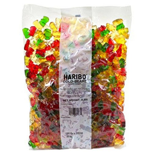 Haribo Gold-Bears Gummi Candy, 5 Pound