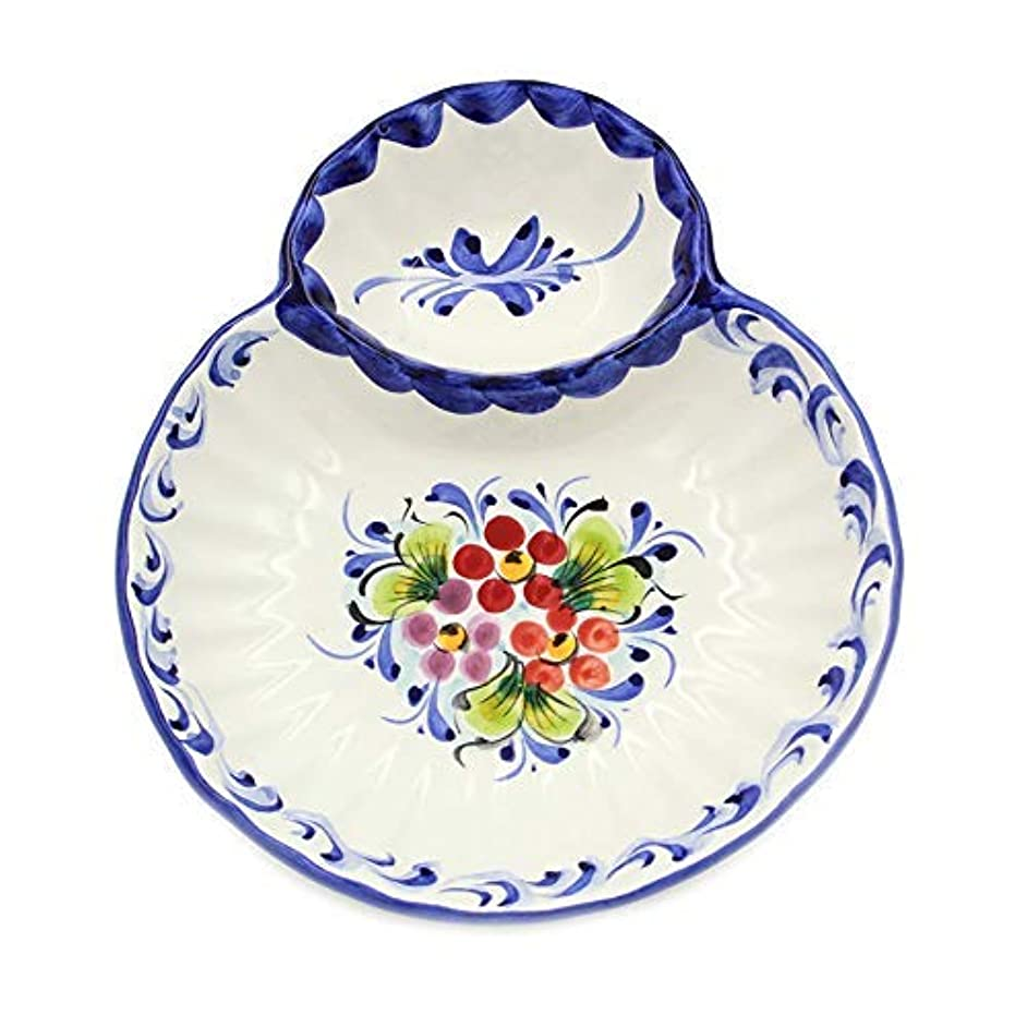 Hand-painted Portuguese Ceramic Olive Dish (Large)