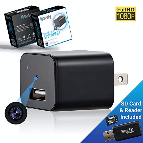 Mini HD Wireless Hidden Camera - Magnetic Feature for Easy Installation with SD Card and Reader -...