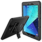 Samsung Galaxy Tab S3 Waterproof Case, Temdan IPX8 Waterproof case with Built-in Screen Full-Body Kickstand Rugged Protective Case for Galaxy Tab S3 9.7 inch 2017 (SM-T820/T825) (Black)