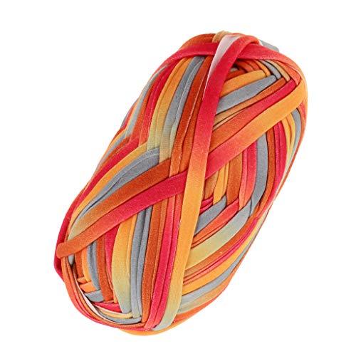 Hellery Textilgarn Stoffgarn Jerseygarn zum Stricken von Taschen, Kissen, Hüten, Decken 30m x 20mm - 13