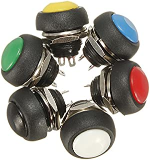 Desconocido Generic Car Auto Momentary Off ON Push Round Button Horn Switch Multicolor