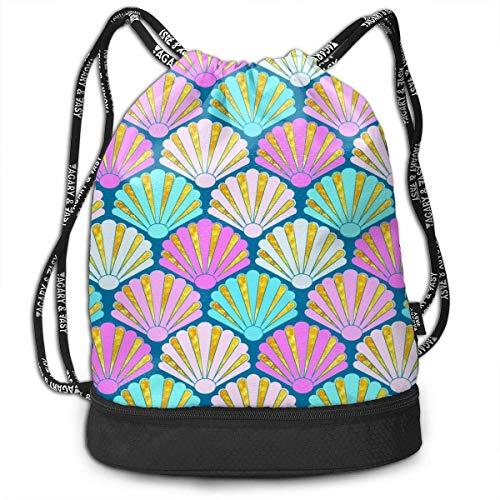 Not Applicable Kordelzug Taschen, Disc Golf Korb mit Flying Disk Gym Bag Strand Seil Schnallen Rucksack 39x41x17.5cm
