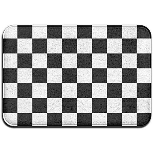 yantaiyu Komfortmatte Fußmatte Schachbrett Zielflaggenmuster Rutschfester Teppich Für Den Außenbereich Luxuriöser Teppich Für Den Innenbereich Für Die Terrassenveranda Garage In Der Bodenküche