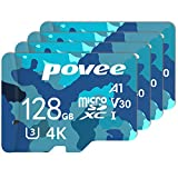 4 Pack of 128GB Micro SD Card with Adapter,Good Value for Nintendo Switch and Gopro Hero 8 Black U3 A1 MicroSDXC Card High Speed Up to 100MB/s UHS-I Memory Card for Android Smartphone Galaxy Fire HD