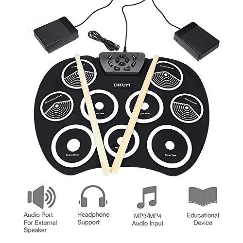 Batería electrónica, USB Mano laminados de batería electrónica, Instrumentos de percusión for principiantes, Resumen Drum Pad de práctica, Batería Con El Auricular Jack kyman