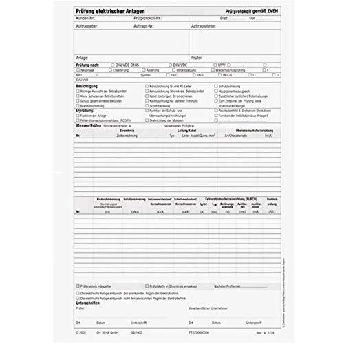 Beha-Amprobe 2146070 1278D Prüfprotokoll nach DIN VDE 0100 1St.