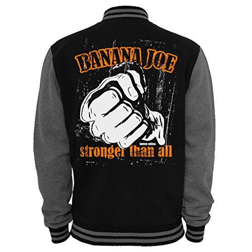 Banana Joe Original 2-Tone Collegejacke Limited Edition #9 - Schwarz-Grau L