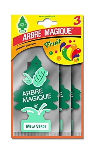 Tavola 102701 Arbre Magique Deodorante Auto, Profumo Tris Mela, Verde/Verdino/Bianco, Set di 3