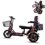*YHXJ Escúters Discapacitats, Motor De 350 Watts, Bateria Plegable, Desmuntable, Ajust De 3 Velocitats, Viatge per a Dues Persones, Adequat per a Persones Majors, Discapacitades I Adults *18mi