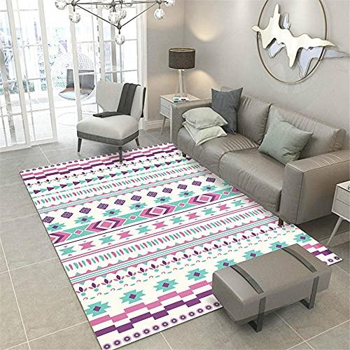 Kunsen alfombras Bebe alfombras Exterior terraza Alfombra Rectangular de Sala de Estar Azul púrpura Azul cómodo y Duradero Decoracion habitacion Bebe 200x300cm 6ft 6.7' X9ft 10.1'