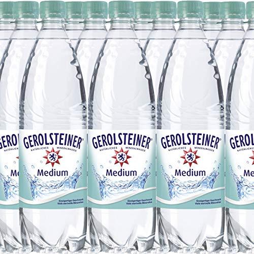 18 Flaschen Gerolsteiner Medium Sprudel Mineralwasser a 1000ml in PET incl. 2.70€ Pfand