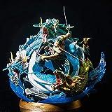 MNZBZ One Piece Roronoa Zoro Tornado Samurai Figura de acción Figma 42 * 41 * 40cm-Estatua Decoració...