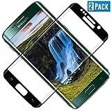 TOCYORIC Protector de Pantalla para Samsung Galaxy S7 Edge, [3D Curvo Full-Cover] Cristal Templado Galaxy S7 Edge, Alta Definicion, 9H Dureza, Resistente a Arañazos, Vidrio Templado S7 Edge[2 Pack]