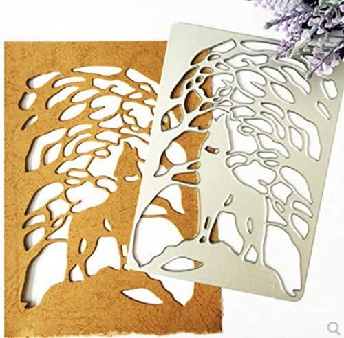 Cubierta de lobo molde de corte de metal DIY cuchillo molde álbum de recortes álbum tarjeta de papel decoración manualidades en relieve