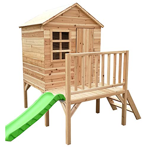 Big Game Hunters Evermeadow Tower Wooden Playhouse with Slide and Platform