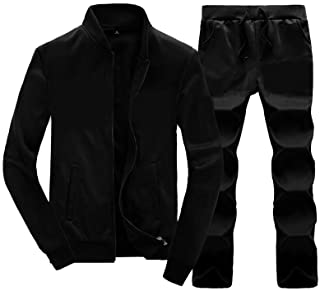 Men's Casual Tracksuit Long Sleeve Running Jogging Athletic Sports Set