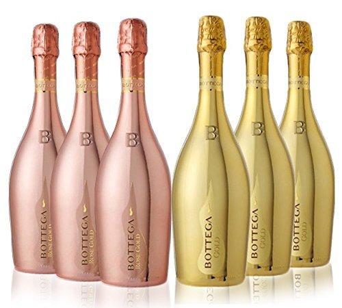 Bottega Gold Prosecco Doc Brut NV und Bottega Gold Rose Doc NV- 6 x 0.75 l