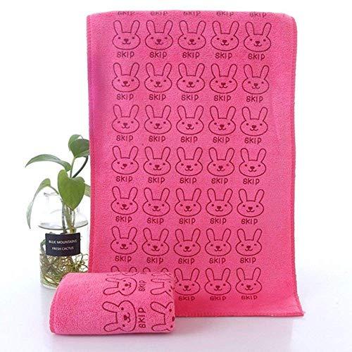 Chunjiao Handdoek, baby Cotton Kids handdoeken De leuke Dier van de Baby van het Hart Print Bath Towel Zwemkleding baby Cotton Kids Handdoeken, Handdoeken, badhanddoeken (Color : Rabbit Rose Red)