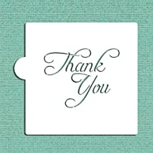 Thank You Cookie and Craft Stencil CM068 by Designer Stencils
