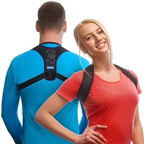 Posture Corrector for Men & Women – Adjustable Shoulder Posture Brace For Injury Rehab & Alignment – Improve Posture with Clavicle Support Brace for Slouching & Hunching – Figure 8 Clavicle Brace