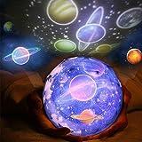 Luz de Nocturna Proyector Estrella Bebé Proyector Lámpara, 360 Grado Giratorio Planeta Tierra Luna Mar Estrellado Led...