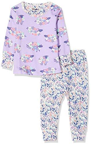Hatley Organic Cotton Long Sleeve Pyjama Sets Conjuntos de Pijama, Púrpura (Contar ovejas 500), 9 Mes para Bebés