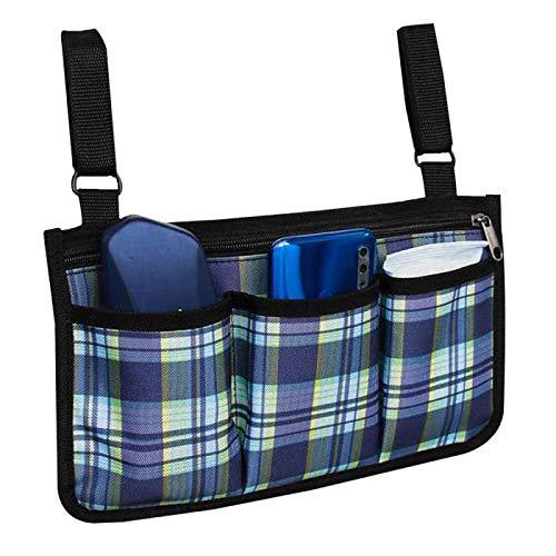 CLBING Rollstuhlseitentasche, Rollstuhl Tasche Armlehne, Rollstuhl Seitentasche Armlehne,Blue