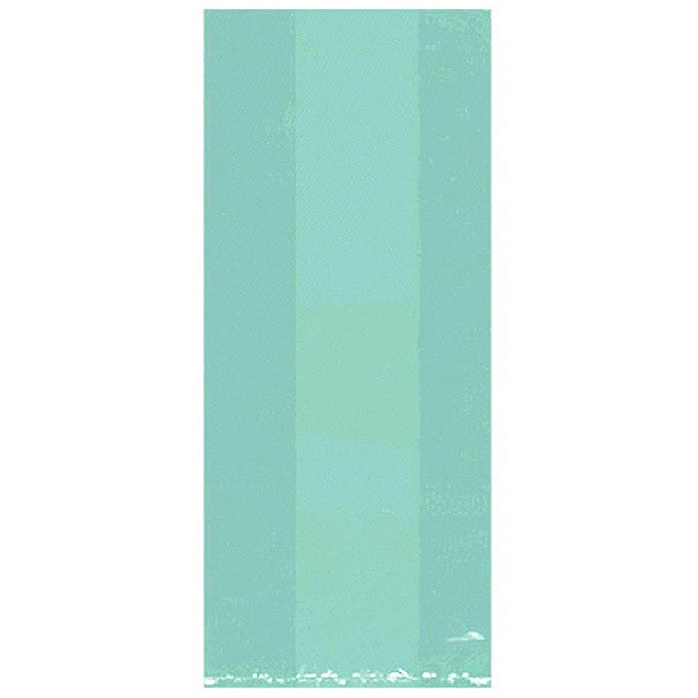 Amscan Large Cellophane Robins Egg Blue Treat Bags, 11.5 x 5 x 3in - 50 Pack