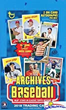 2018 Topps Archives Baseball MASSIVE Factory Sealed 24 Pack HOBBY Box with TWO(2) AUTOGRAPHS! Look for Auto's of Mike Trout, Shohei Ohtani, Ronald Acuna, Sandy Koufax, Derek Jeter & More! WOWZZER!