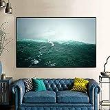 Pintura al óleo Póster Artístico de pared, pintura en lienzo, cascada de Niágara, cuadros de pared con olas para sala de estar, Cuadros, decoración del hogar, sin marco 60x90cm