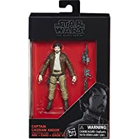 Star Wars 2017 The Black Series Captain Cassian Andor (Rogue One) Exclusive Action Figure, 3.75 Inches