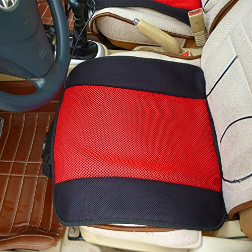 12V / 24V Sommerlüftungs Kissen, Auto-Sitzkissen, Multifunktionales High And Low-Gang-Schalter Kaltluft-Sitzkissen, rutschfeste Kissen,24v red