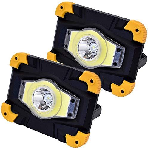 FDGSD Reflector LED de 10 W, luz de Trabajo Recargable por USB, luz de Campamento portátil, Foco de construcción Impermeable IP65, 4 Modos de iluminación, Viaje en automóvil, Senderismo, Pesca, lu