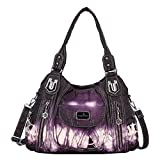 Handbag Hobo Women Handbag Roomy Multiple Pockets Street ladies' Shoulder Bag Fashion PU Tote Satchel Bag for Women (AK812-2Z Purple)