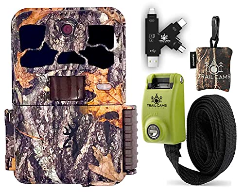 Browning Spec Ops Elite HP4 Trail Camera with Card Reader, Steel Reinforced Strap, and Spudz Microfiber Cloth Screen Cleaner