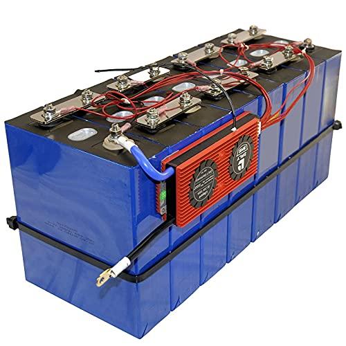 LONGRING Batería De Celda Profunda Prismática Recargable Lifepo4 De Fosfato De Hierro Y Litio De 12 V Y 100 Ah con BMS Y Corte De Temperatura Fría Preestablecido para,4PCS+BMS