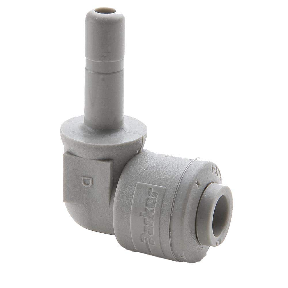 3//8 Push-to-Connect Tube x 3//8 Tube Stem Gray Parker Hannifin A6TEU6-MG TrueSeal Acetal Tube Elbow Union Fitting with EPDM Seal