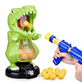 Dinosaur Toys Shooting Games for Kids Shooting Toys Target Practice with LCD Score Record and 24 Foam Balls,Air Balls Shooting Foam Ball Game for Boys Girls and Adult Ideal Gifts Toys for Boys & Girls